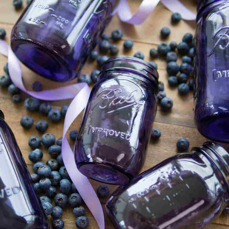 purple heritage jars for canned goods found at Louie's Ace Hardware store