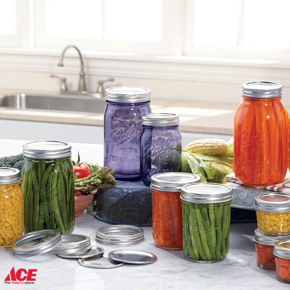 canned food in Mason Jars available at Louie's Ace Hardware